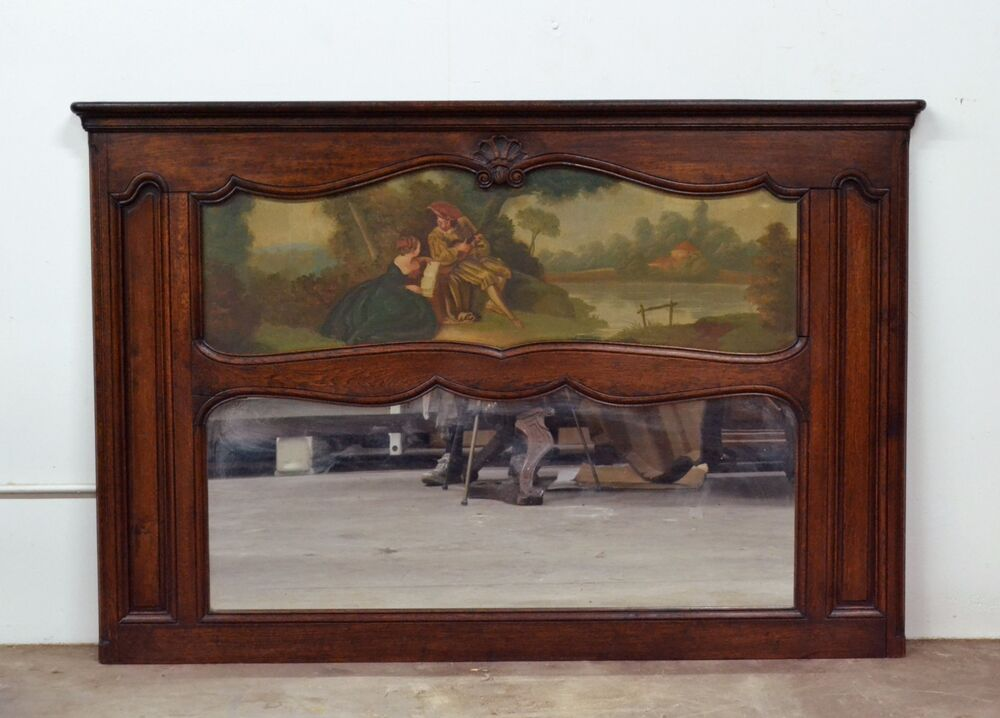11000 Antique Oak French Country Wall Mantel Mirror W
