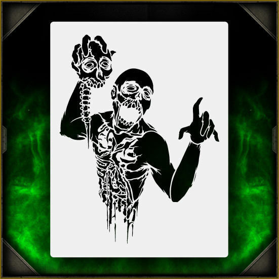 Zombie Torso 1 - Airbrush Stencil Template Airsick Zombies ...