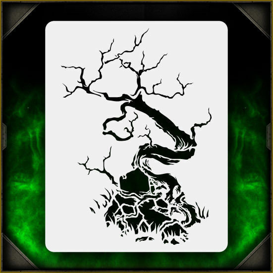 Creepy Tree 3 - Airbrush Stencil Template Airsick Zombies ...