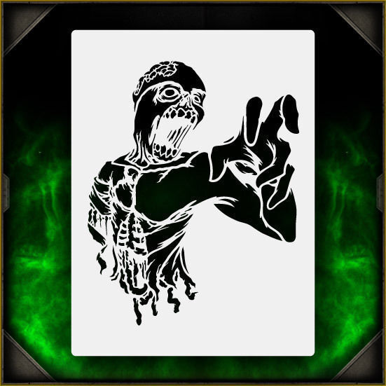 Zombie Torso 2 - Airbrush Stencil Template Airsick Zombies ...