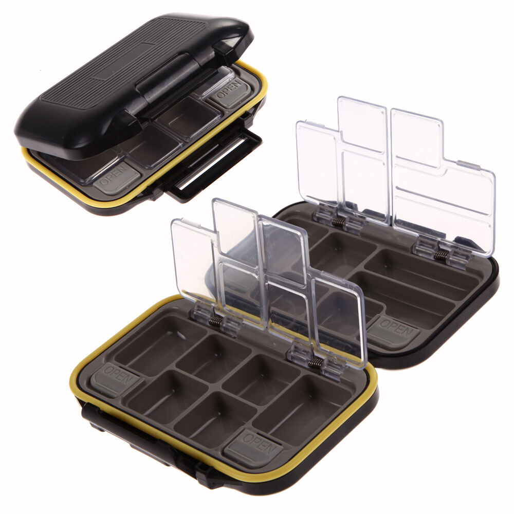Waterproof fishing lure bait hook tackle storage box case for Fishing hook storage