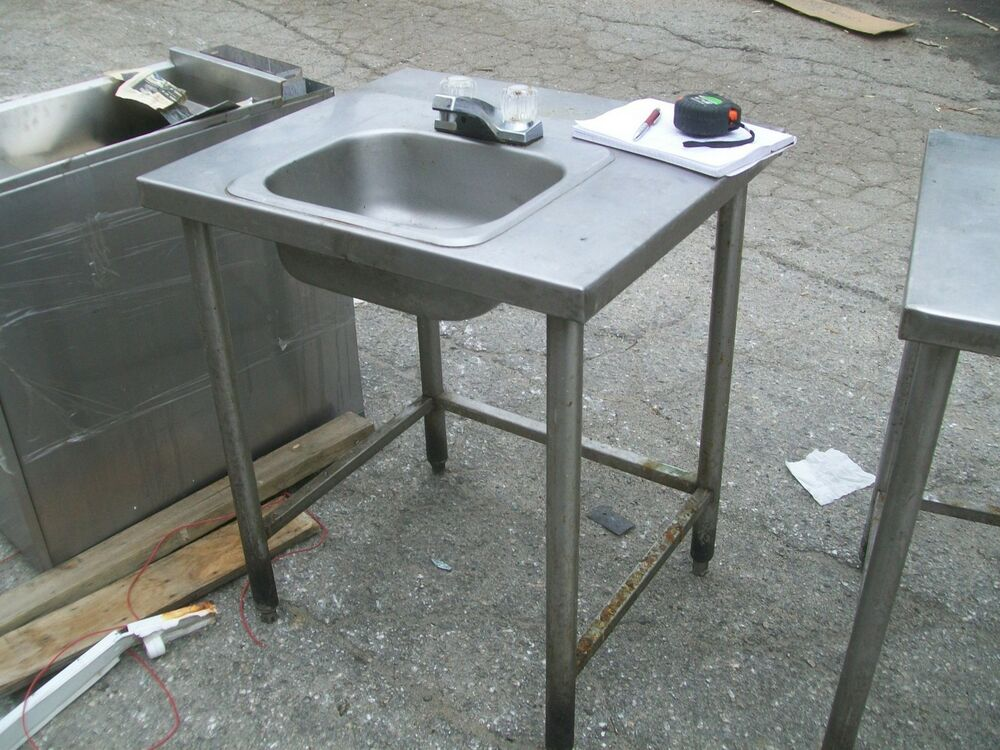 Hand Sink Stand Combo All Stainless Steel Unit Free