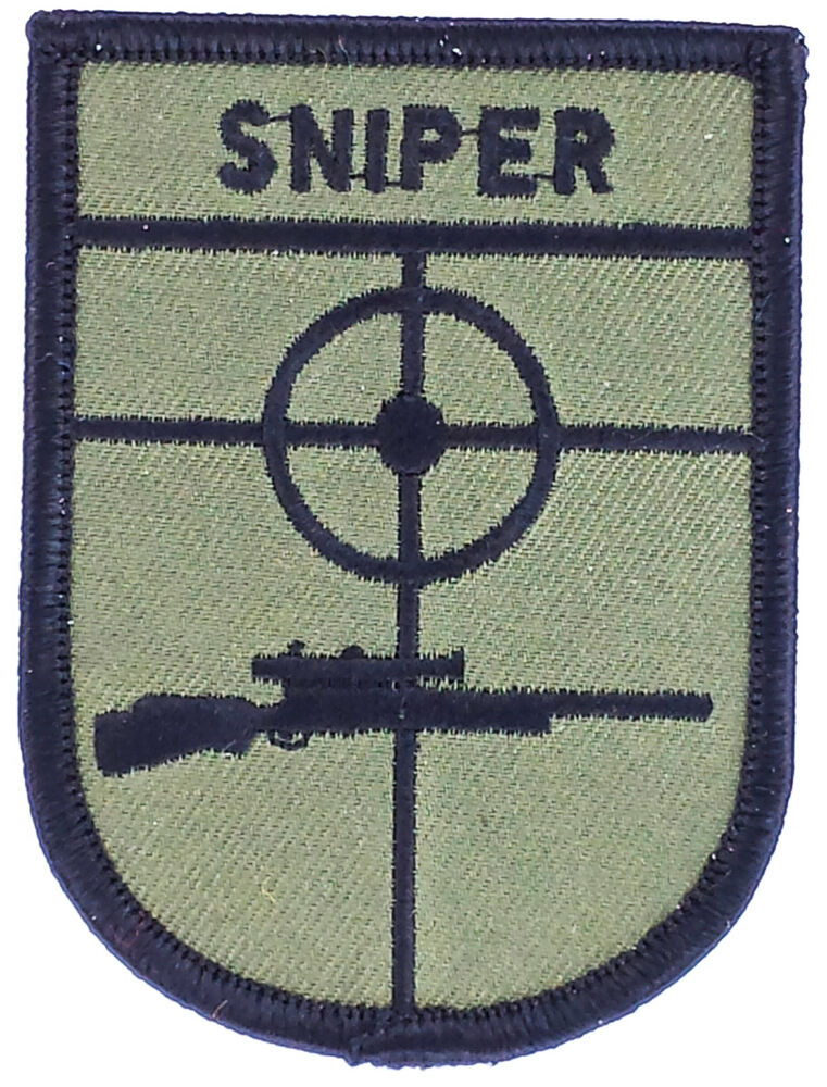 Ecusson patch sniper airsoft thermocollant neuf military for Military patch template