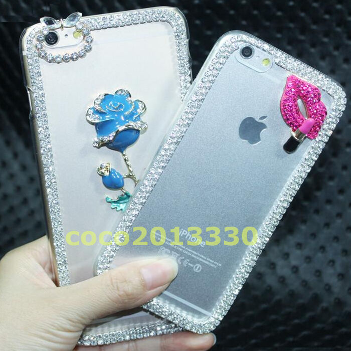 Case Design personalised bling phone cases : New 3D Shine luxury Bling Transparent Clear Crystal Hard Back Case ...