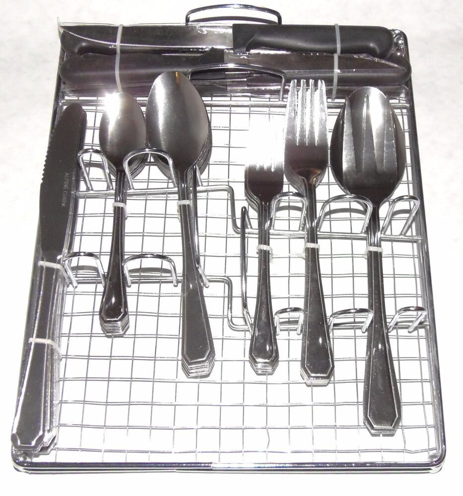 51pc Stainless Steel Flatware Cutlery Set Caddy And Steak