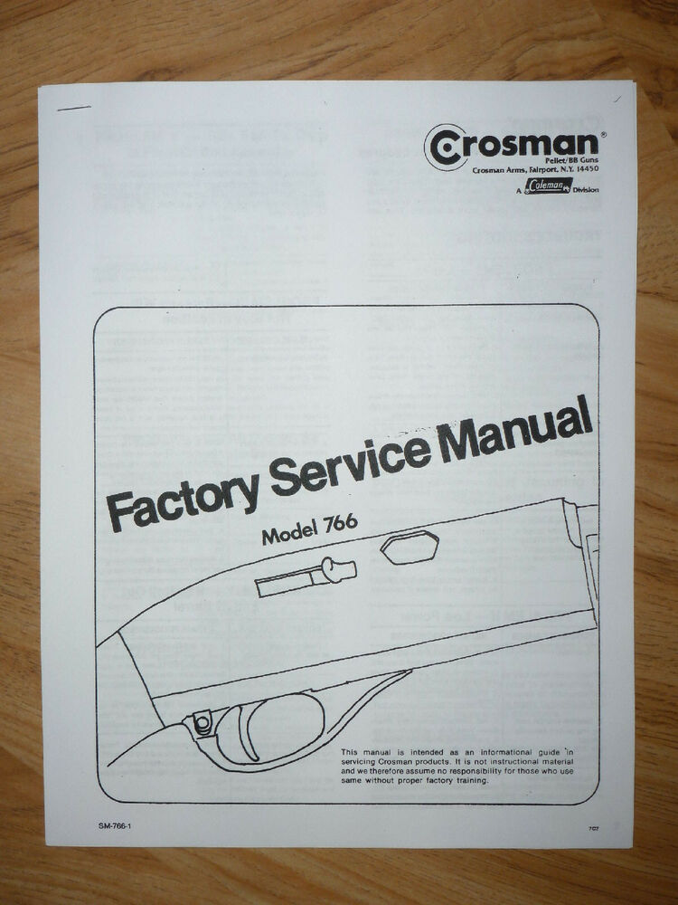 Crosman 766 Service Manual With Exploded View      Parts    List