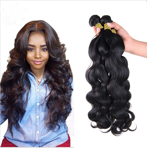 "15 bundles 15"" Brazilian Virgin Remy Body Wave Human Hair Weave ..."