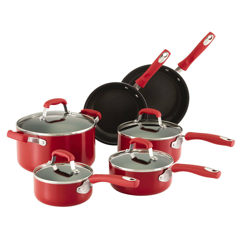 Guy Fieri 10 Piece Nonstick Aluminum Cookware Set