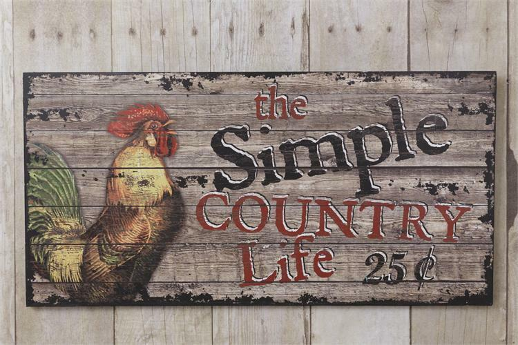 New farmhouse primitive the simple country life rooster for Country farm simples