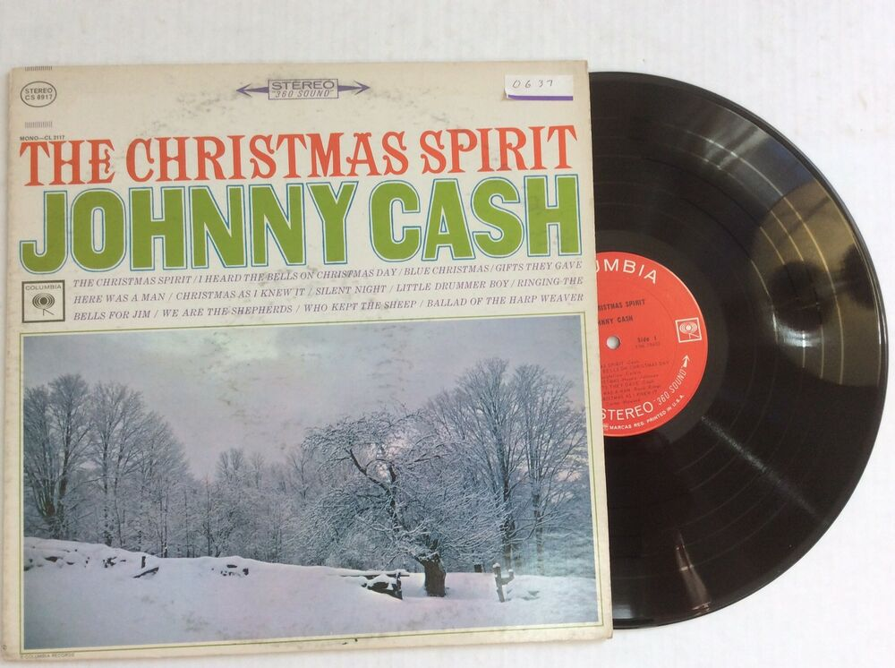 Johnny Cash THE CHRISTMAS SPIRIT vinyl LP Columbia CS-8917 | eBay