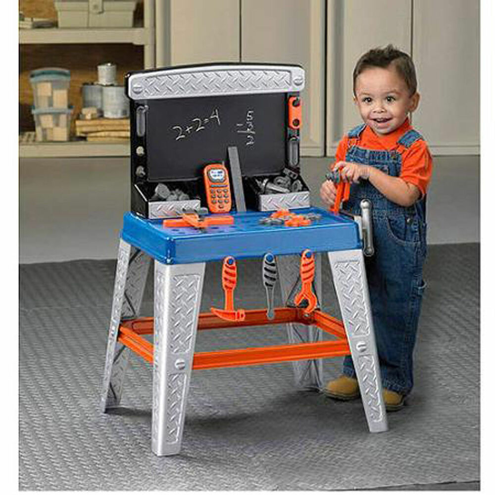 Kids Tools Bench Workshop Play Set Toddler Pretend Work Child Workbench Boys New Ebay