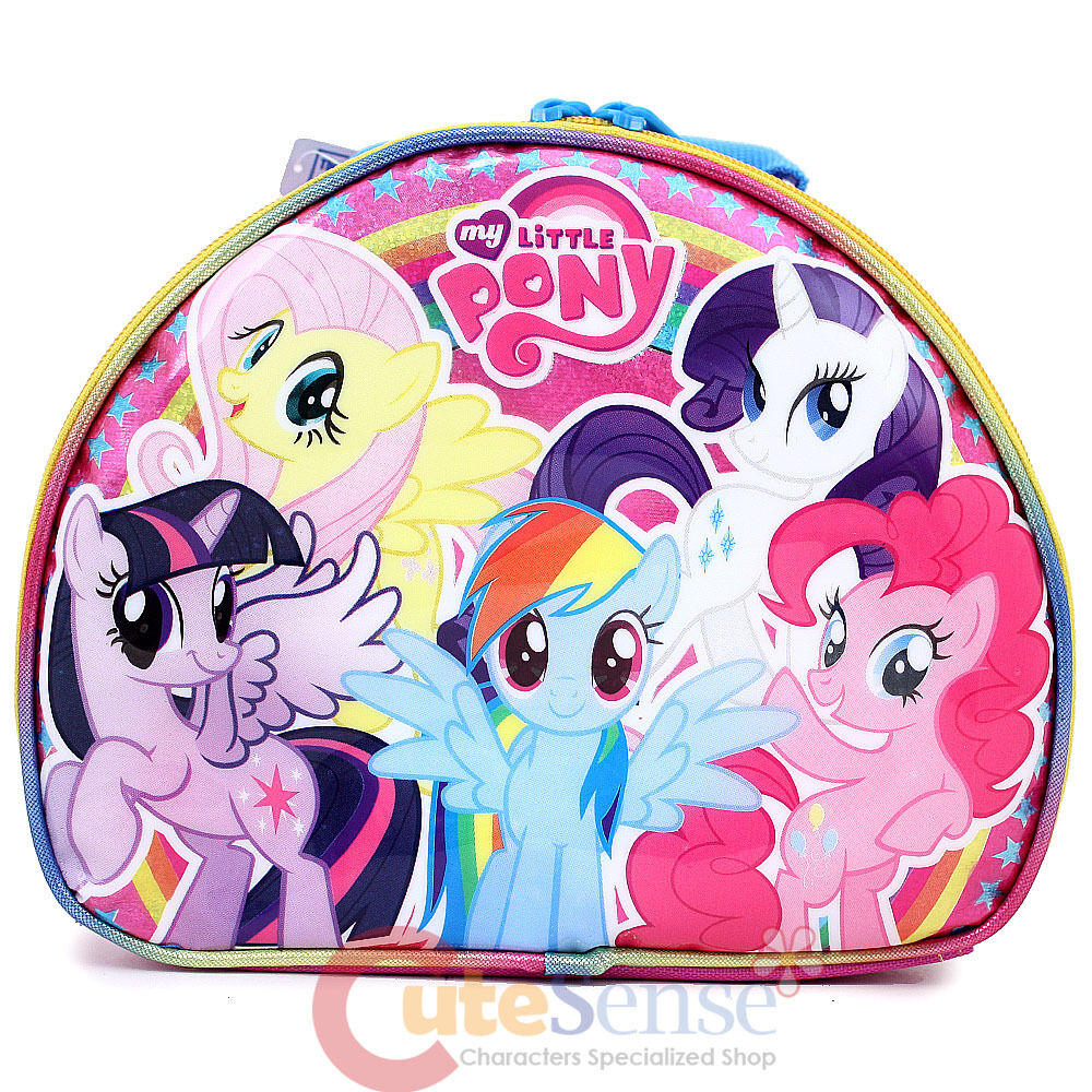 my little pony group school lunch box insulated sanck bag. Black Bedroom Furniture Sets. Home Design Ideas