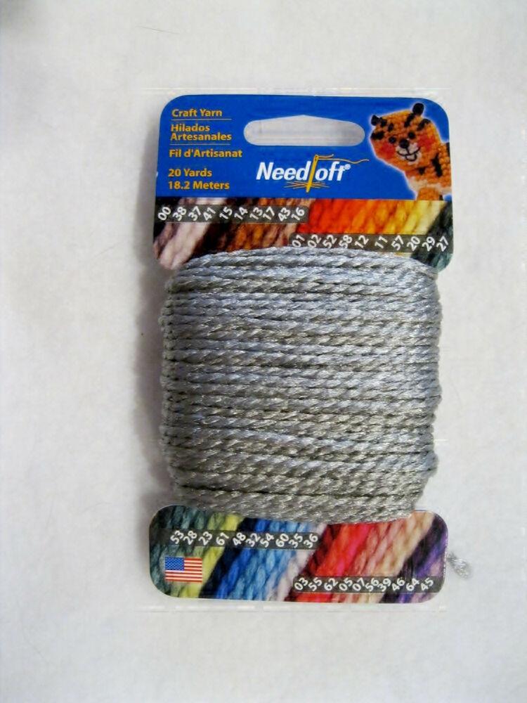 NEEDLOFT CRAFT YARN BABY BLUE #36  for PLASTIC CANVAS by COTTAGE MILLS