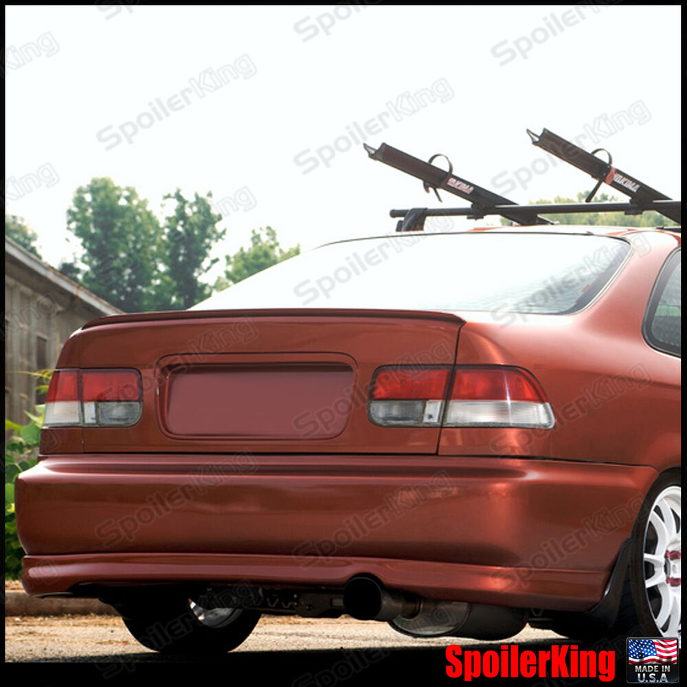 rear trunk lip spoiler wing fits honda civic 1996 00 2dr. Black Bedroom Furniture Sets. Home Design Ideas
