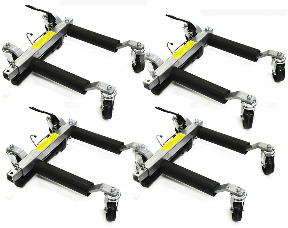 "Prp Hydraulic go Car Dollies 12"" Wheel Lift Positioning Jack 4 auto Dolly Set 