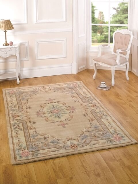 Beige French Style Vintage Floral Mat Thick Premium ...