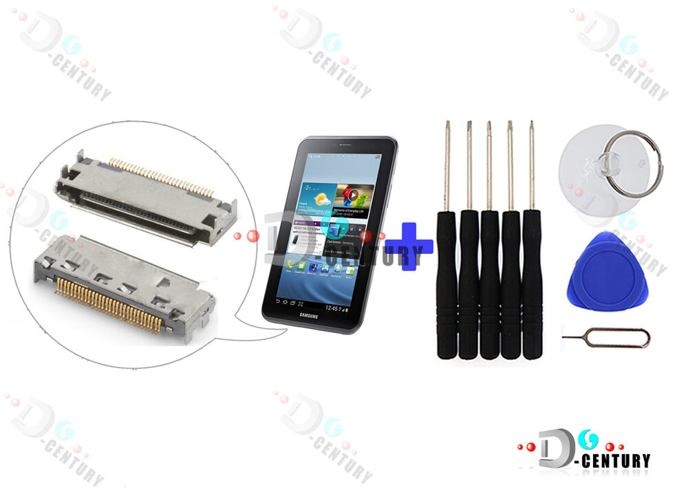 Oem charging port dock connector usb samsung galaxy tab 2 7 0 p3100 p3110 tool ebay - Port usb tablette samsung ...