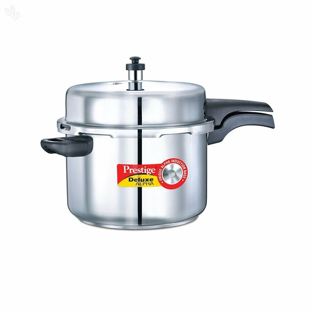 prestige 8 liters alpha deluxe stainless steel pressure cooker 8901365206071 ebay. Black Bedroom Furniture Sets. Home Design Ideas