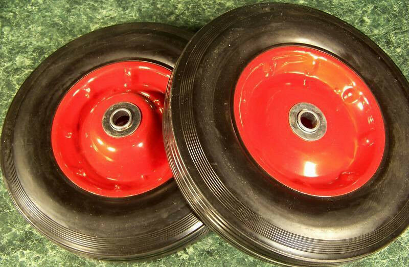 2pc 10 Quot Inch Solid Rubber Dolly Wheels New Tire Rim Wheel