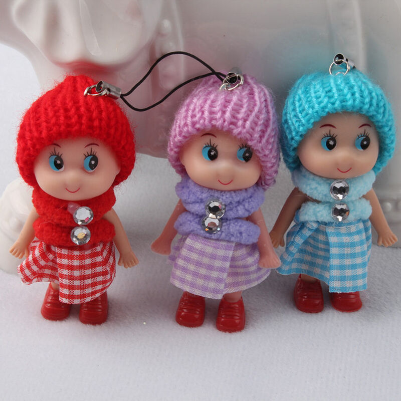 Small Toy Dolls : Lovely phone decoration toy soft baby dolls