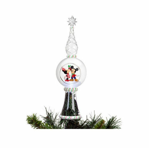 Mickey Christmas Tree Topper: Disney Store Mickey Minnie Mouse Christmas Tree Topper