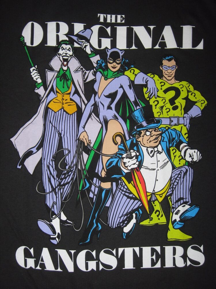 The joker suicide squad penguin catwoman riddler batman for Riddler t shirt with bats