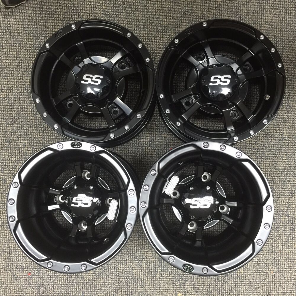 Atv Rims Wheel Covers : Set of itp ss rims yamaha yfz r four