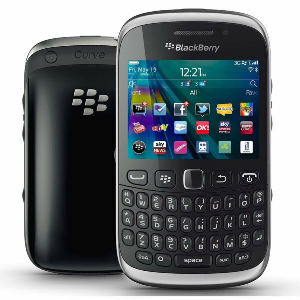 Good Condition BlackBerry Curve 9320 Black Unlocked Smartphone Mobile Phone