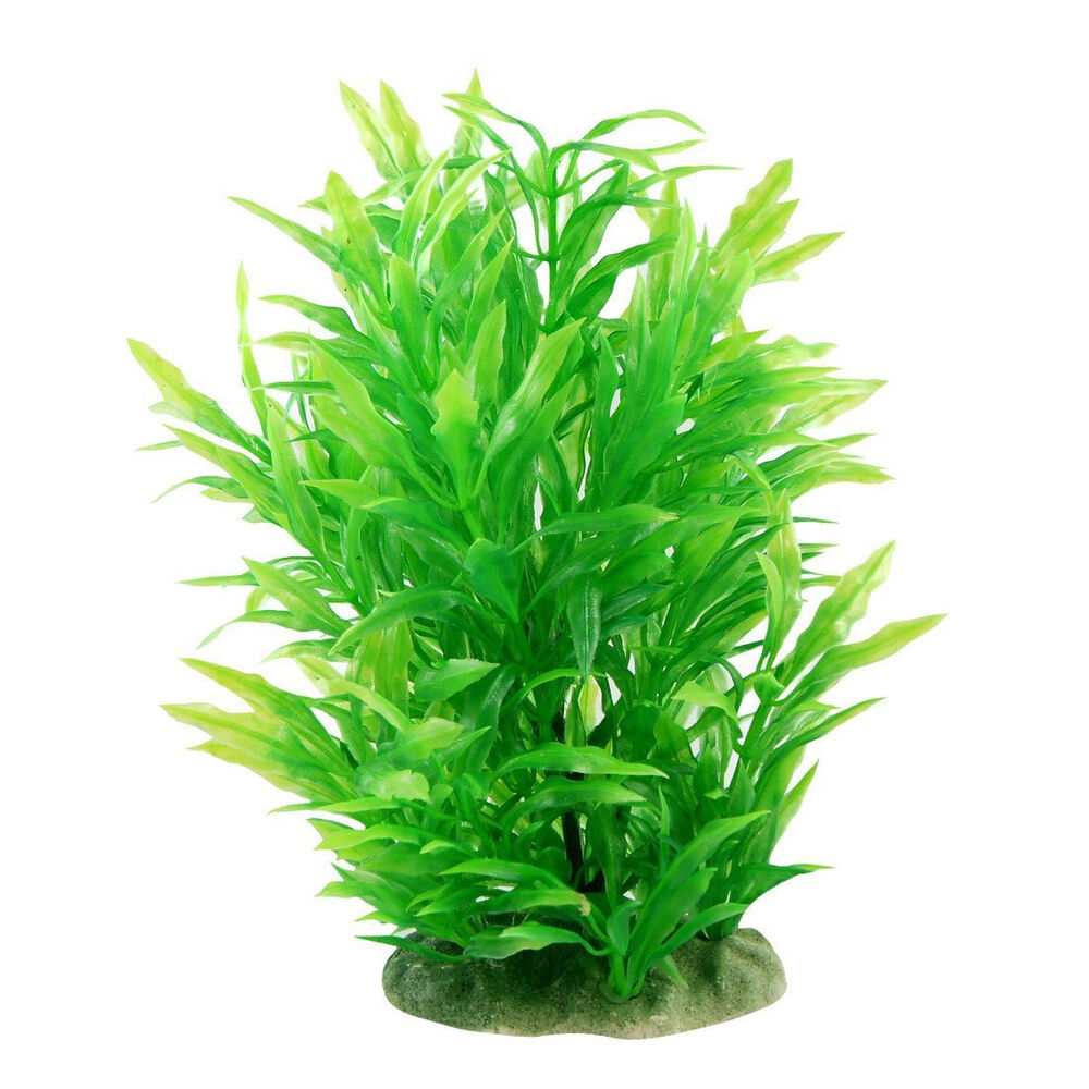 8 0 Tall Artificial Water Plant Decoration For Fish Tank Green Ebay