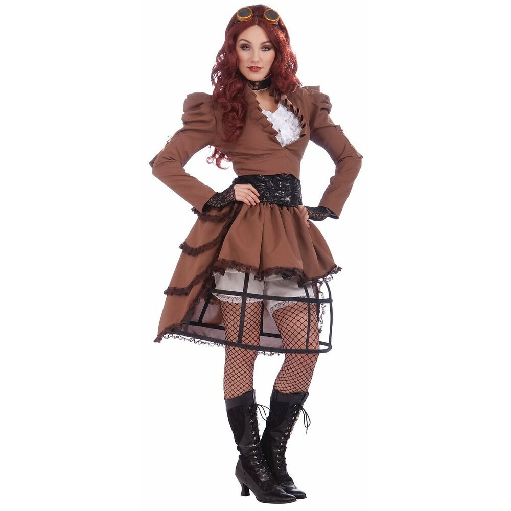steampunk vicky costume halloween fancy dress ebay. Black Bedroom Furniture Sets. Home Design Ideas