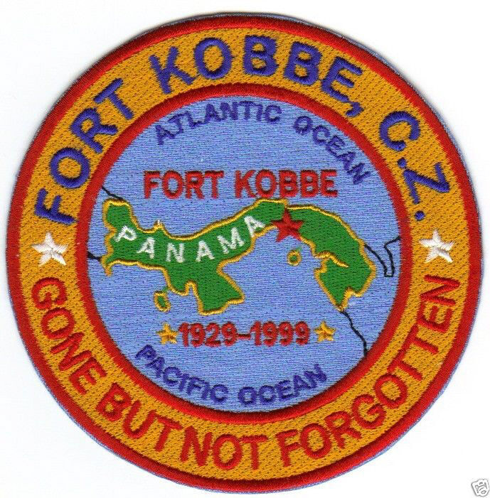 US ARMY POST PATCH, FORT KOBBE, CANAL ZONE, GONE BUT NOT