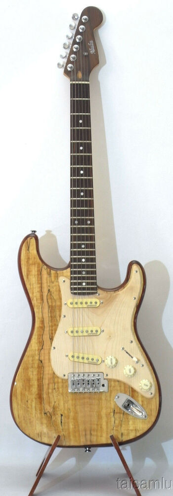 electric guitar spalted maple mahogany shiny polish segs09 ebay. Black Bedroom Furniture Sets. Home Design Ideas