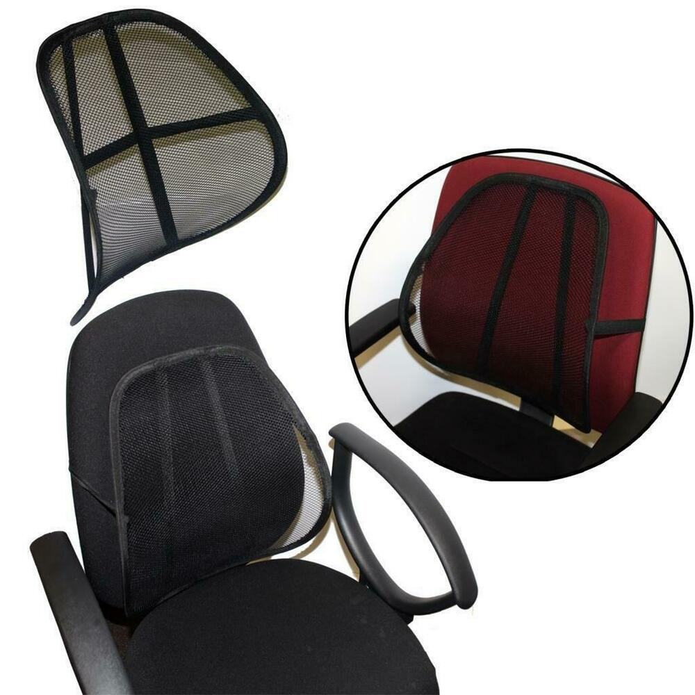 Best sit right comfort mesh office chair seat lumbar back support cushion black ebay - Best back pillow for office chair ...