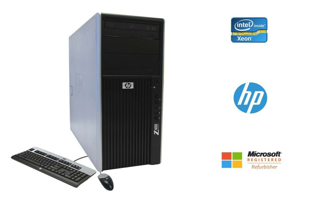 hp z400 workstation intel xeon 6 core 24gb ram ssd hd nvidia win 10 pro ebay. Black Bedroom Furniture Sets. Home Design Ideas