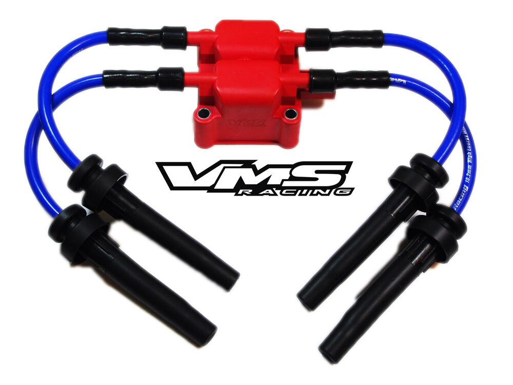 vms racing ignition coil 10mm spark plug wires 04