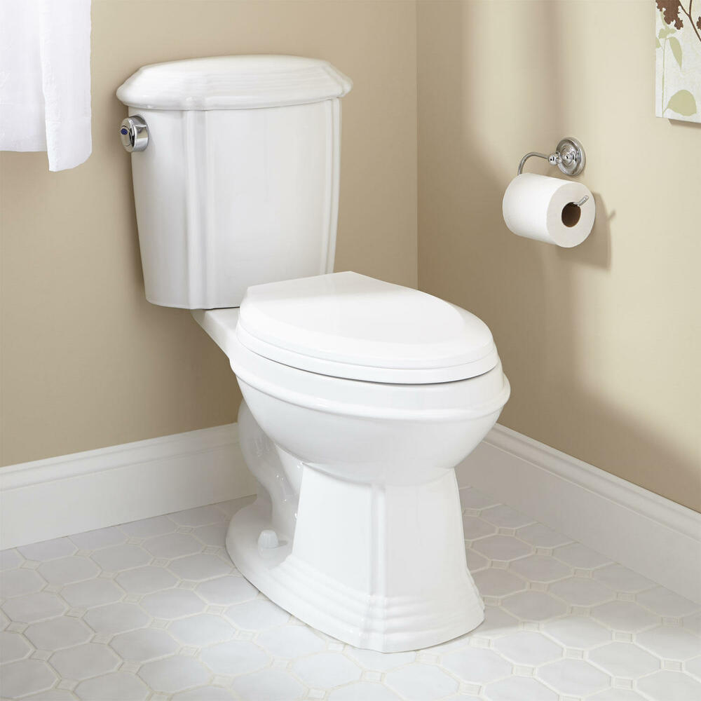 Regent Dual-Flush Water Closet (Elongated Bowl Toilet ...
