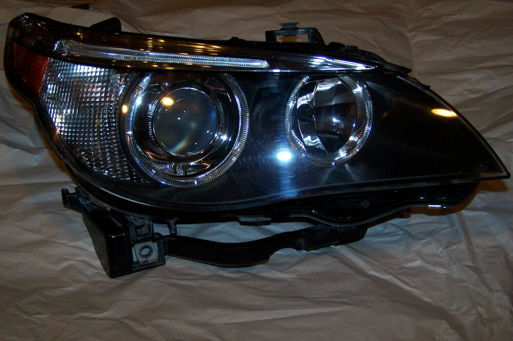 bmw owners headlight 5 series e60 2003 2004 2005 original. Black Bedroom Furniture Sets. Home Design Ideas