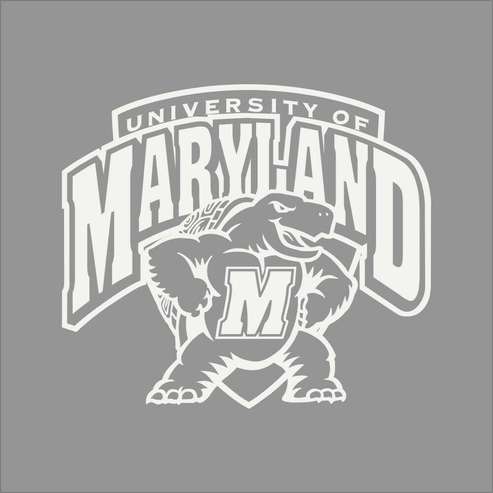 Maryland Terrapins College Logo 1c Vinyl Decal Sticker Car