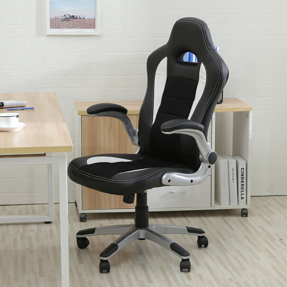 New Executive Racing Style Bucket Seat PU Leather Office