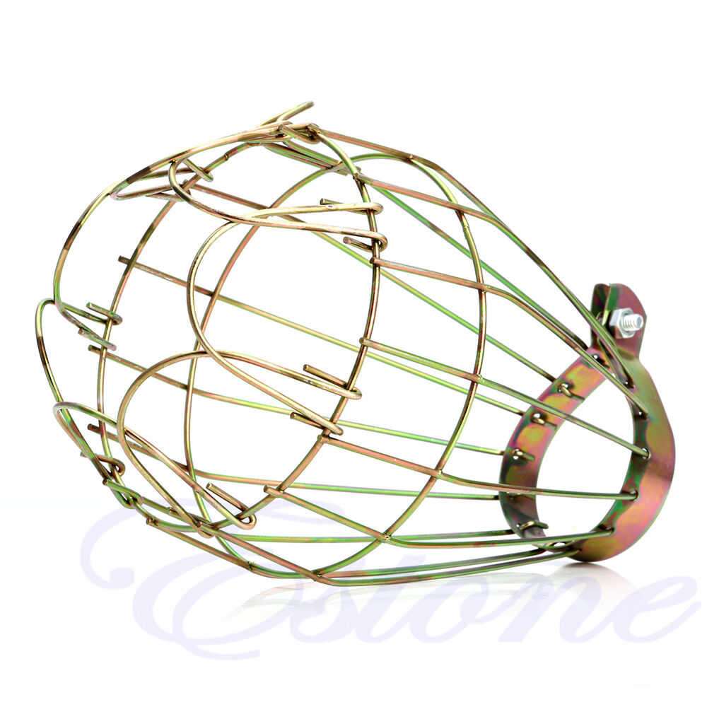 Industrial Brass Bulb Guard Clamp On Lamp Squirrel Cage