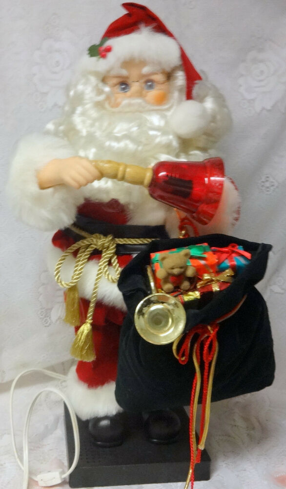 Animated Christmas Toys : Animated musical telco motion lighted bell santa claus w