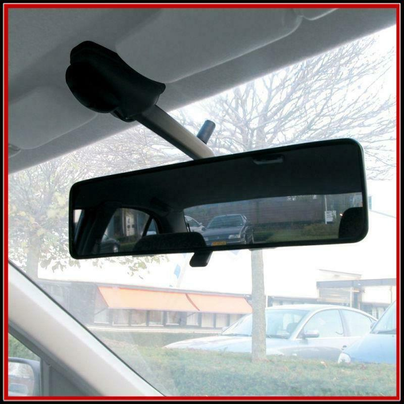 interior attachement extension convex panoramic car rear view mirror quick fit ebay. Black Bedroom Furniture Sets. Home Design Ideas