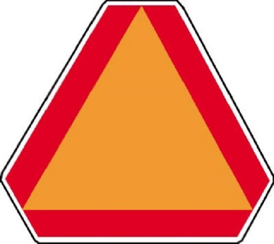 Big Slow Moving Tractor Sign : Hy ko ta quot aluminum slow moving vehicle triangle