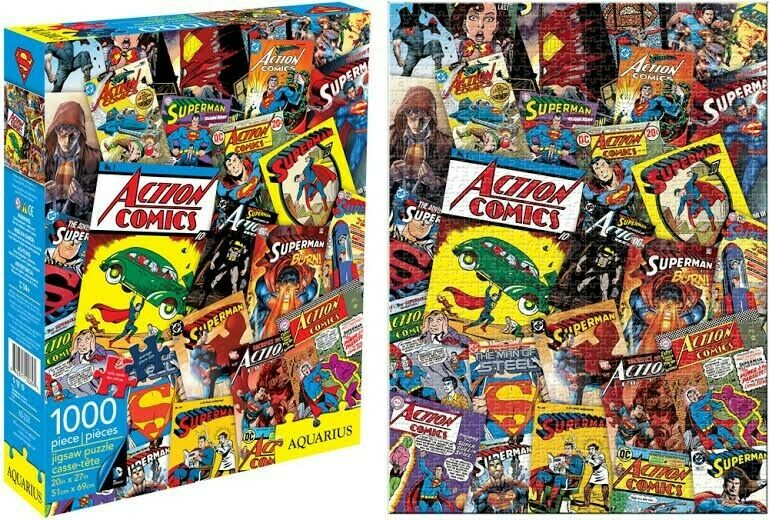 Book Cover Collage Games : Dc comics superman comic book cover collage piece