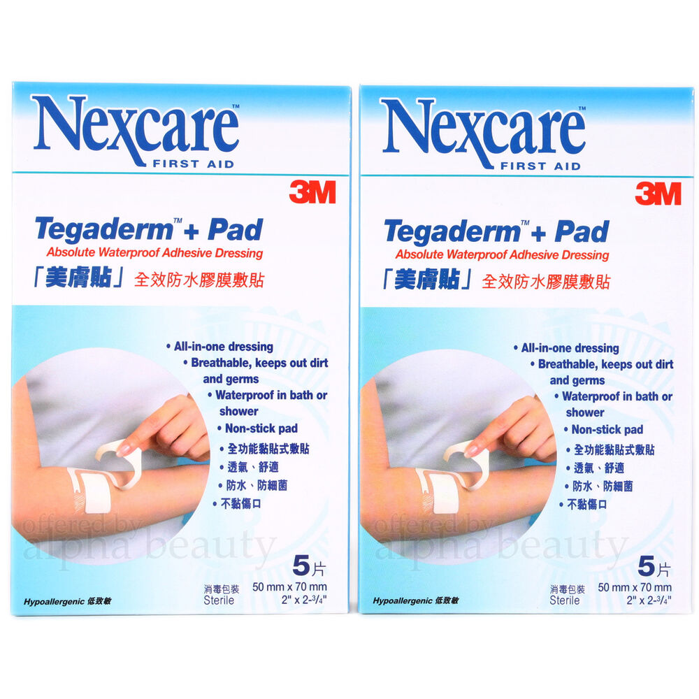 3M Nexcare Tegaderm Pad Absolute Waterproof Dressing 5x7cm (5 pieces) x 2 Box | eBay