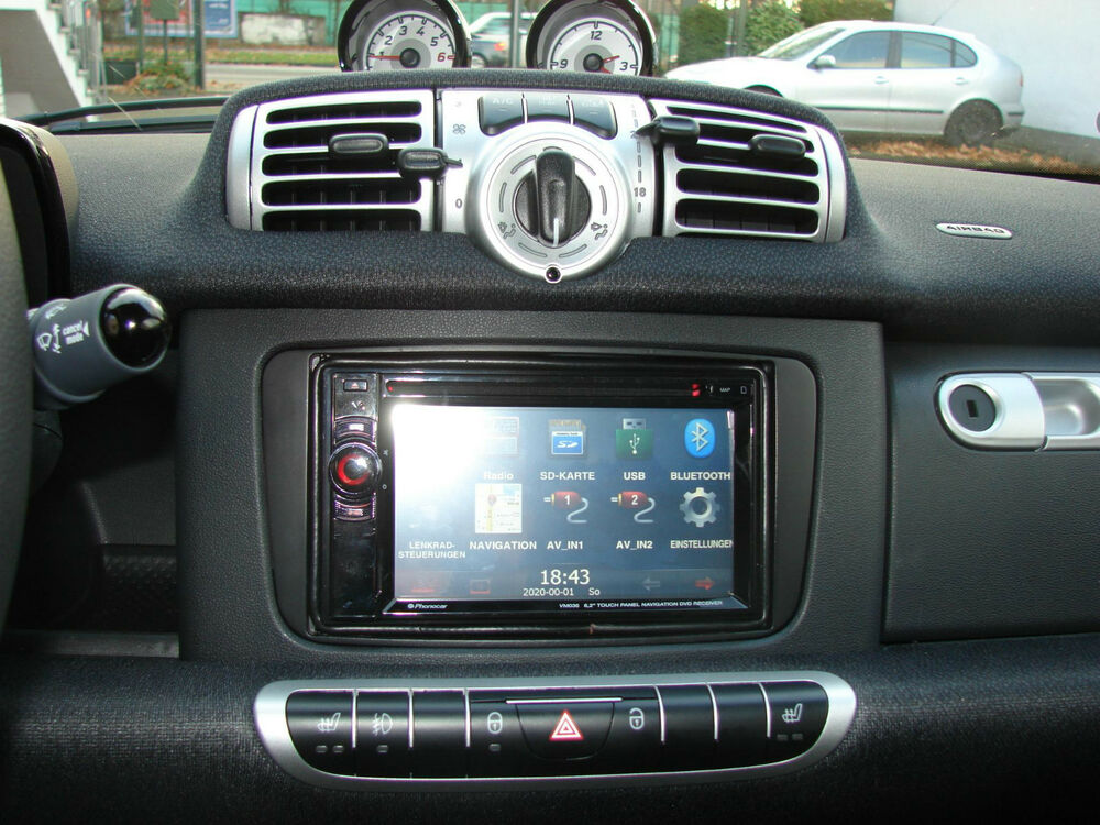 double din 2 radio faceplate smart fortwo 451 facelift. Black Bedroom Furniture Sets. Home Design Ideas