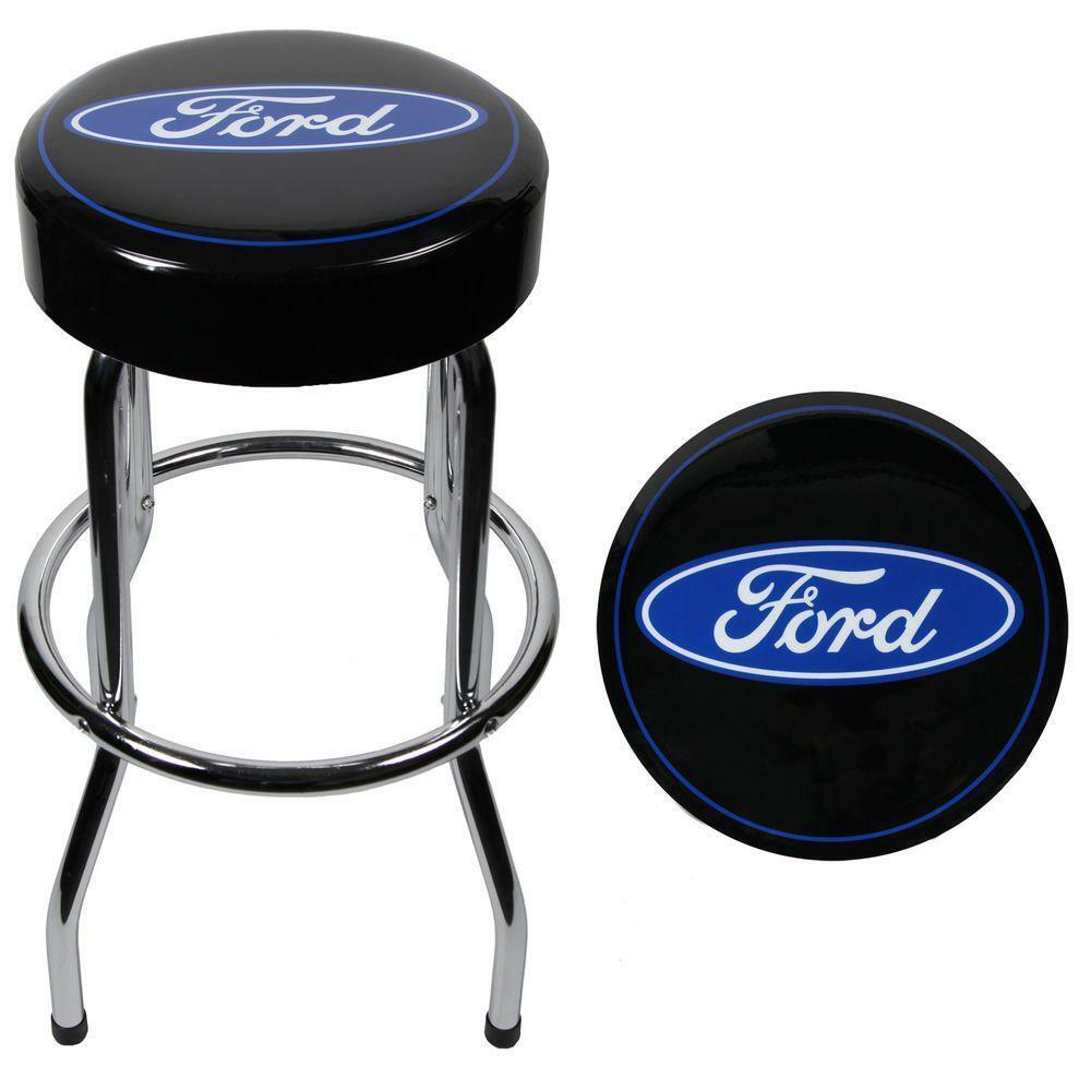 Ford Tough Powerstroke Blue Black Bar Stool Chair Shop