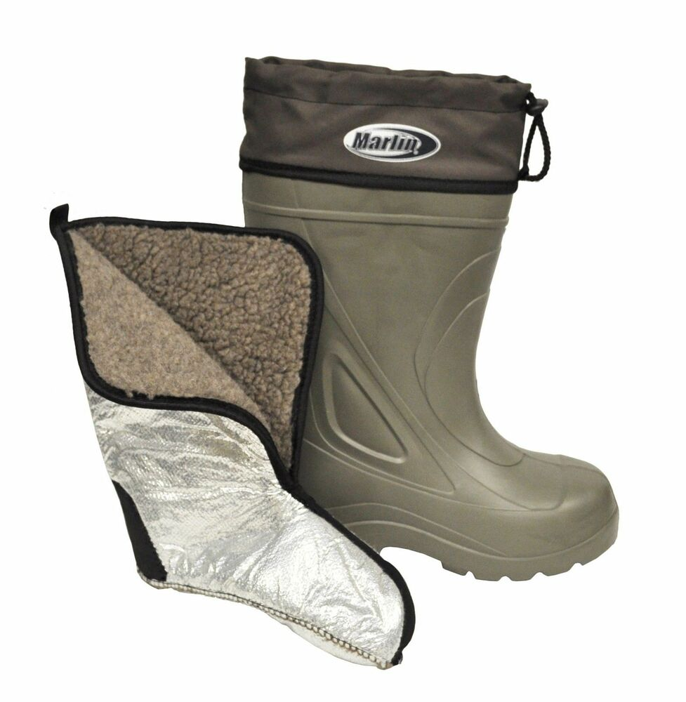 marlin insulated liner fishing deck waterproof boat boots