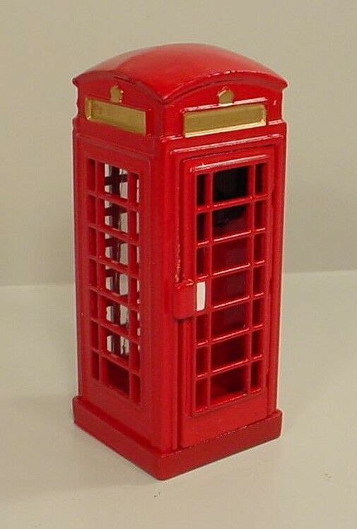telephone booth euro style miniature g scale 1 32 scale. Black Bedroom Furniture Sets. Home Design Ideas