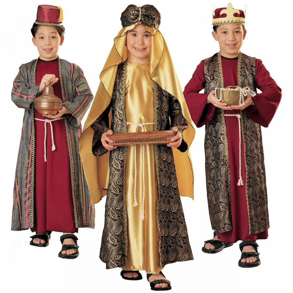Three wise men costumes for kids kings christmas